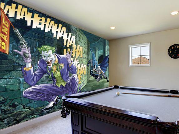 Batman Chases The Joker Wallpaper Mural Wallsauce Com Mural