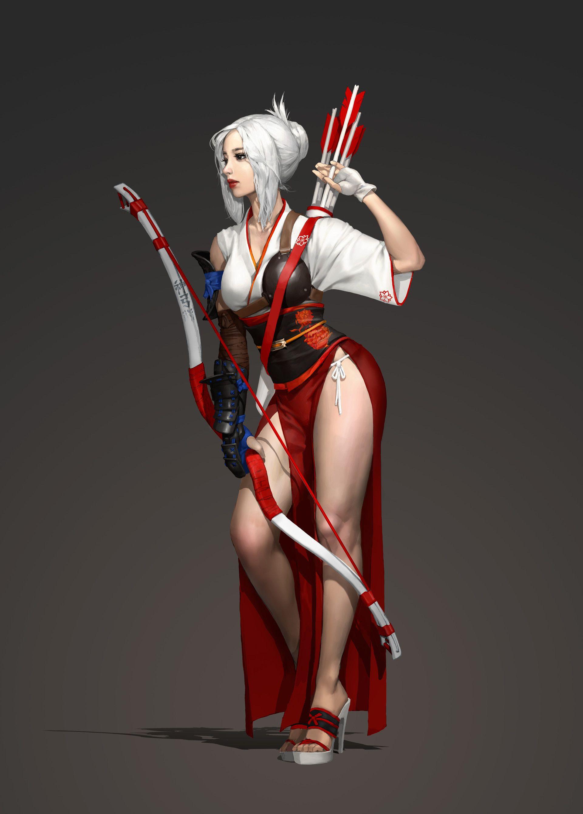 Asian fantasy art women warriors phrase... super