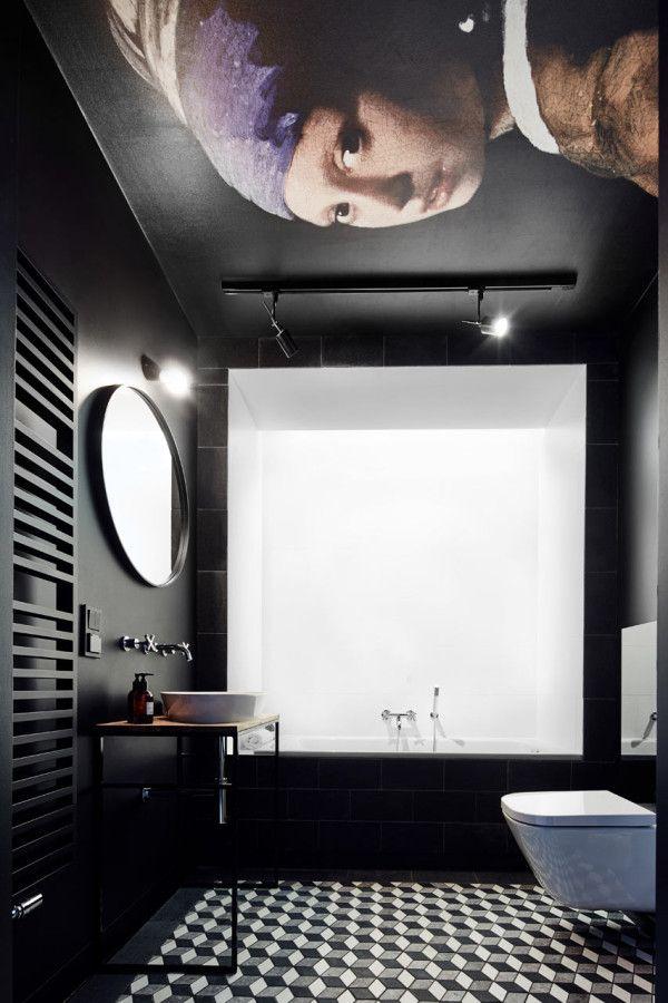 9x donkere badkamers voor een indrukwekkende look | Pinterest ...
