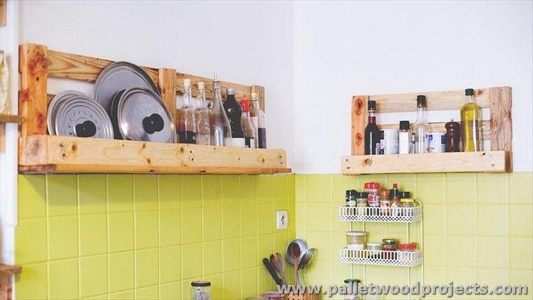 Pallet Wood Kitchen Installations | Kitchen shelves, Pallets and ...