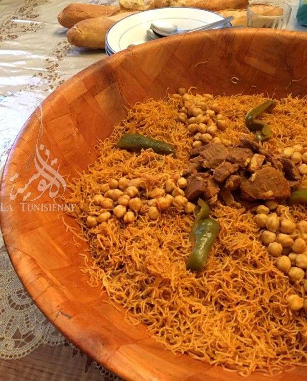 Vermicelles tunisiennes la vapeur douida mfawra la - Cuisine tunisienne poisson ...