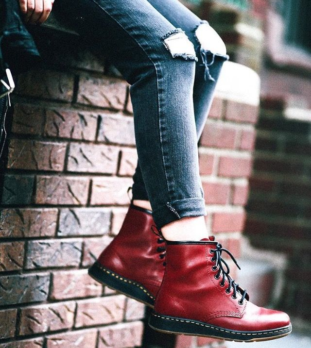 Ripped Jeans and Docs