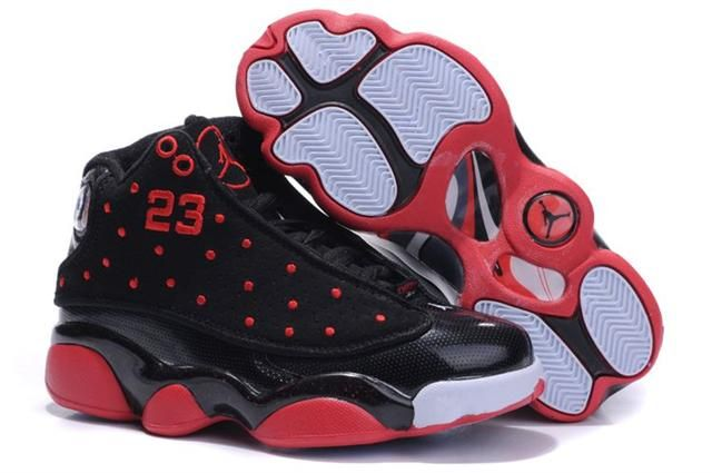 size 40 aa65e 3e8f5 Kids Air Jordan 13 Black Red | Sneakers in 2019 | Jordan 13 ...