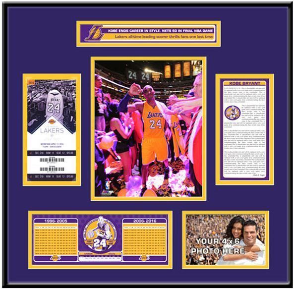 New Kobe Bryant Final Game Ticket 22\
