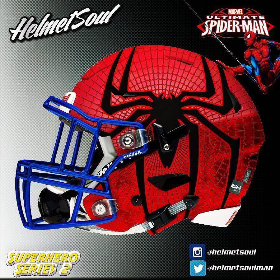 Spider Man Football Helmets Cool Football Helmets Clever Fantasy Football Names