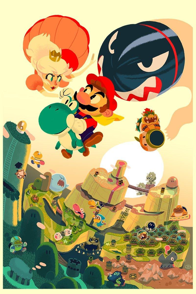 Super Mario World Created By Glen Brogan Mario Art Desenhos Do Mario Ilustracoes