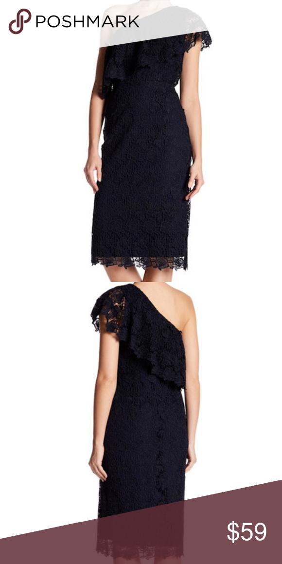 Nanette Lepore One Shoulder Lace Sheath Dress New Lace Sheath Dress New Dress Sheath Dress