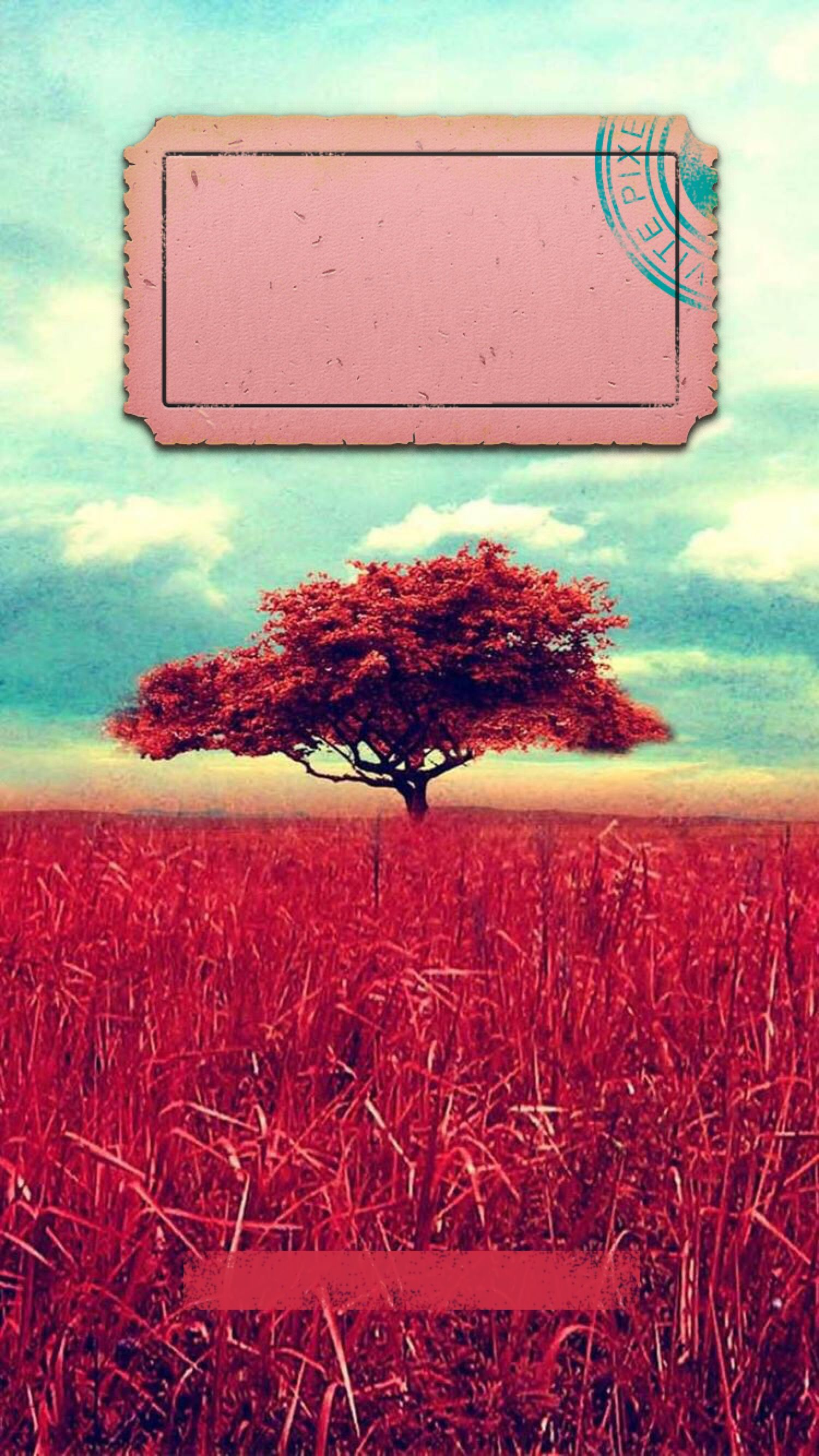 Tap And Get The Free App Lockscreens Art Creative Sky Clouds Tree Nature Red Blue Hd Iphone Landscape Wallpaper Iphone 5s Wallpaper Vintage Style Wallpaper