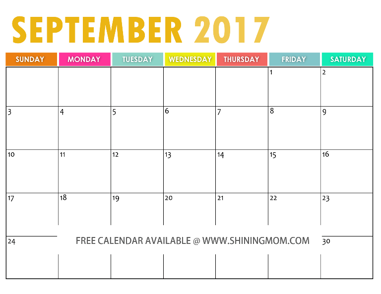 The Free Printable 2017 Calendar by