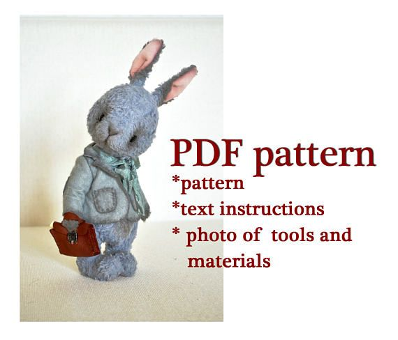 PDF sewing pattern teddy sewing pattern download toy pattern ...