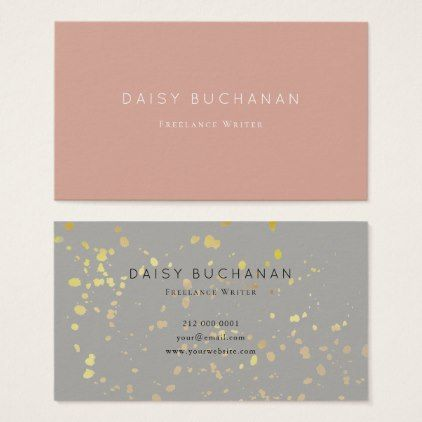 Simple modern pink gray gold glitter business card simple modern pink gray gold glitter business card office gifts giftideas colourmoves