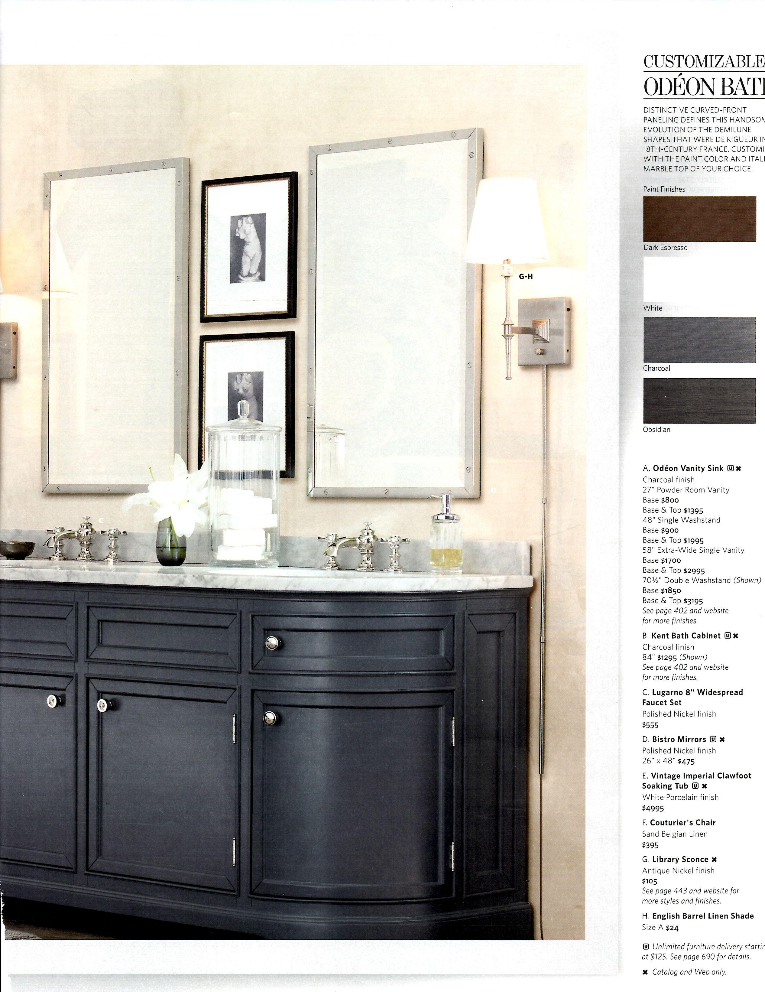 Bathroom Restoration Hardware Bathroom Pinterest