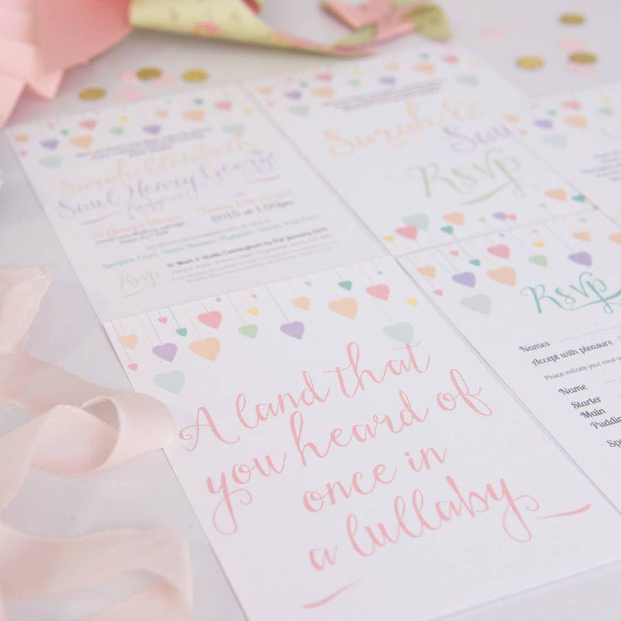 original_pastel-rainbow-wedding-invitation.jpg (900×900) | Pastel ...