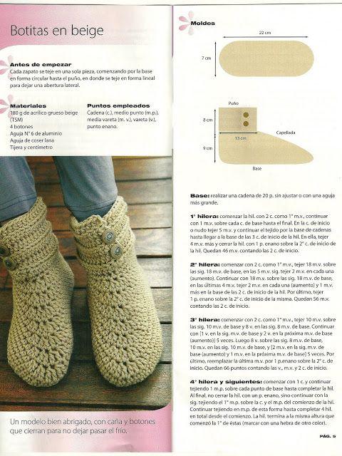 com | slippers | Pinterest | Botas tejidas, Croché y Botas