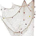 LUOEM Decorative Fishing Net Nautical Seaside Netting With Shell Party Wall Hanging Decor 2Mx1M: Amazon.co.uk: Kitchen & Home