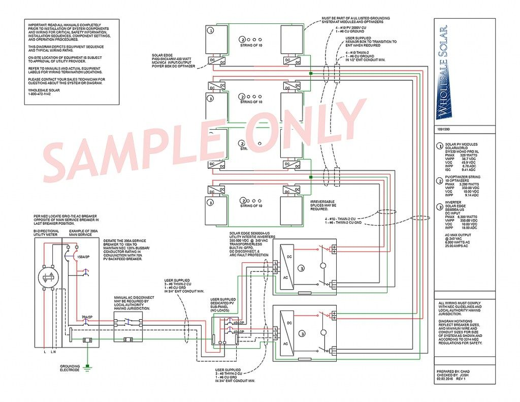 Electrical wiring diagrams from wholesale solar regarding ...