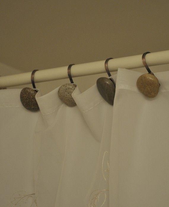 Beach Rock Shower Curtain Hooks