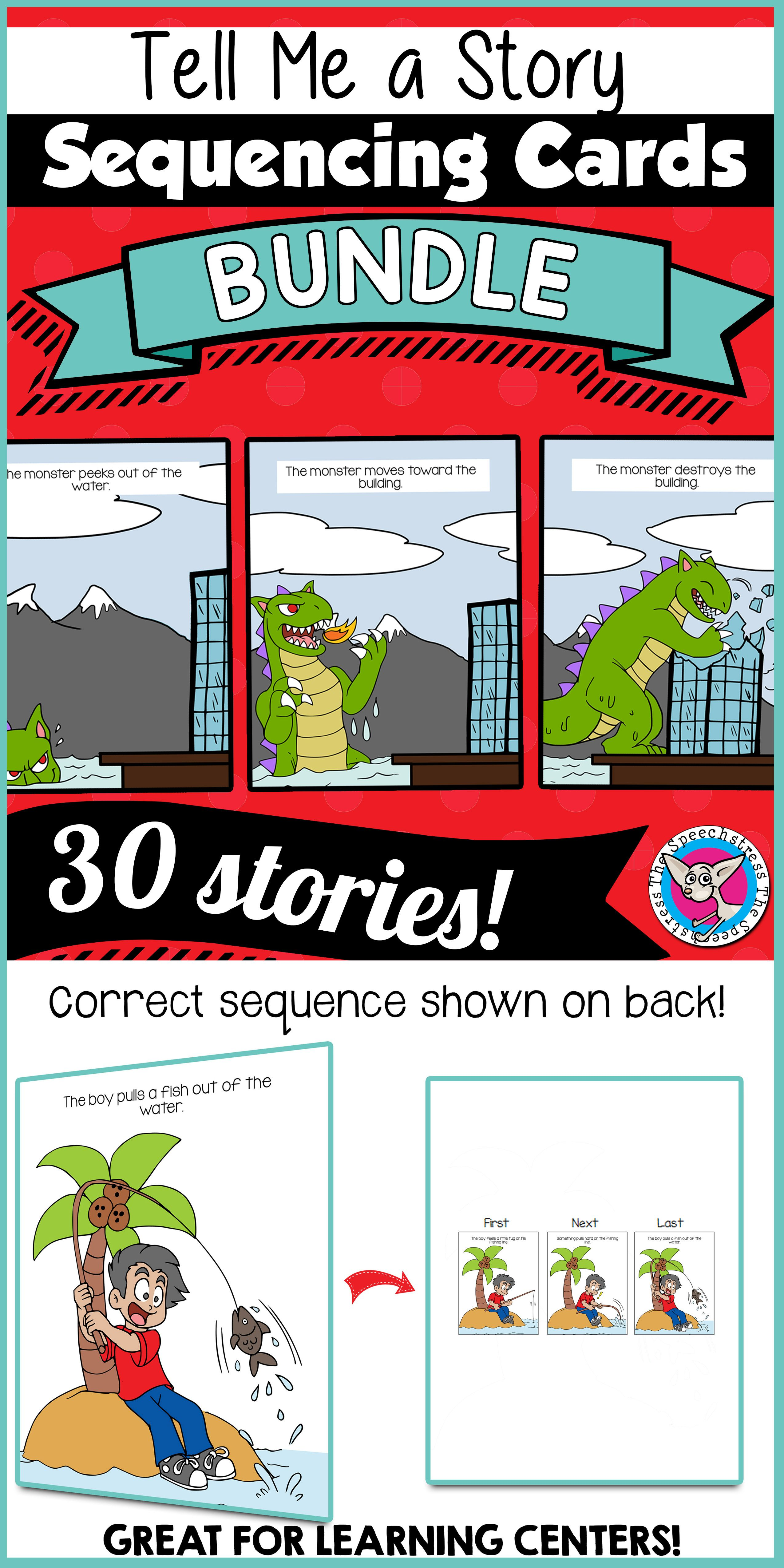Tell Me A Story Sequencing Bundle Slp
