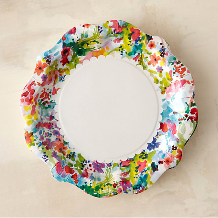 Floral print disposable plates //.stylemepretty.com/living  sc 1 st  Pinterest & Girly Grill Inspiration For Your Next BBQ Bash | Disposable plates ...