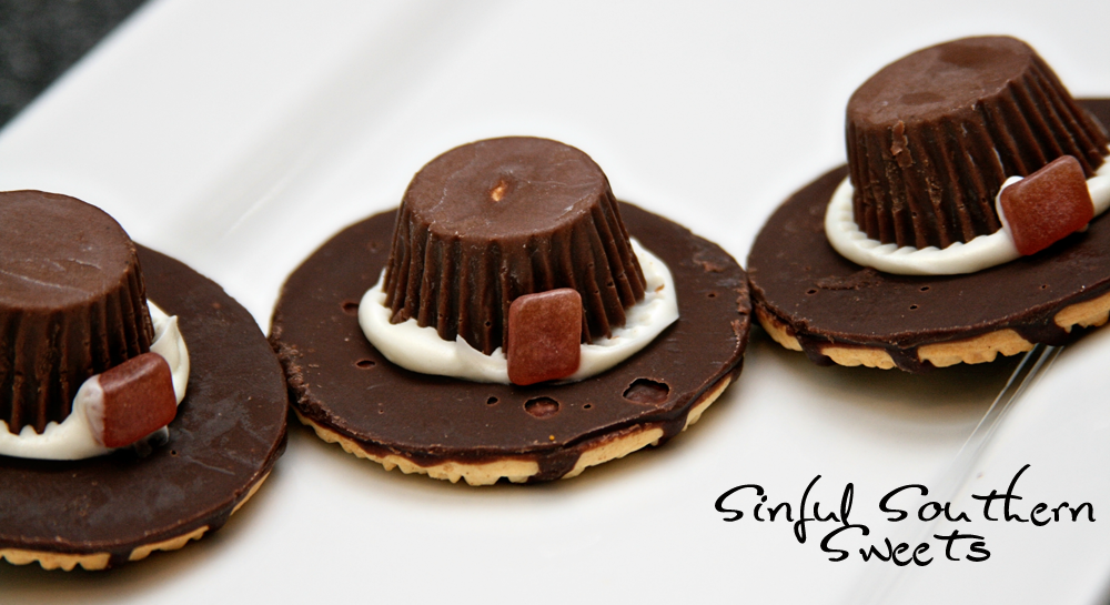 Pilgrim Hat Cookies #thanksgivingfood