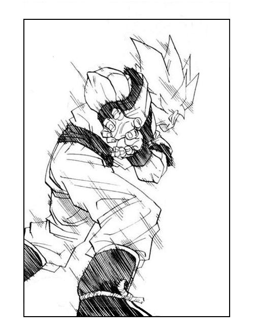 Dessin Goku Super Saiyajin Kame Hame Ha Animemanga Dragon