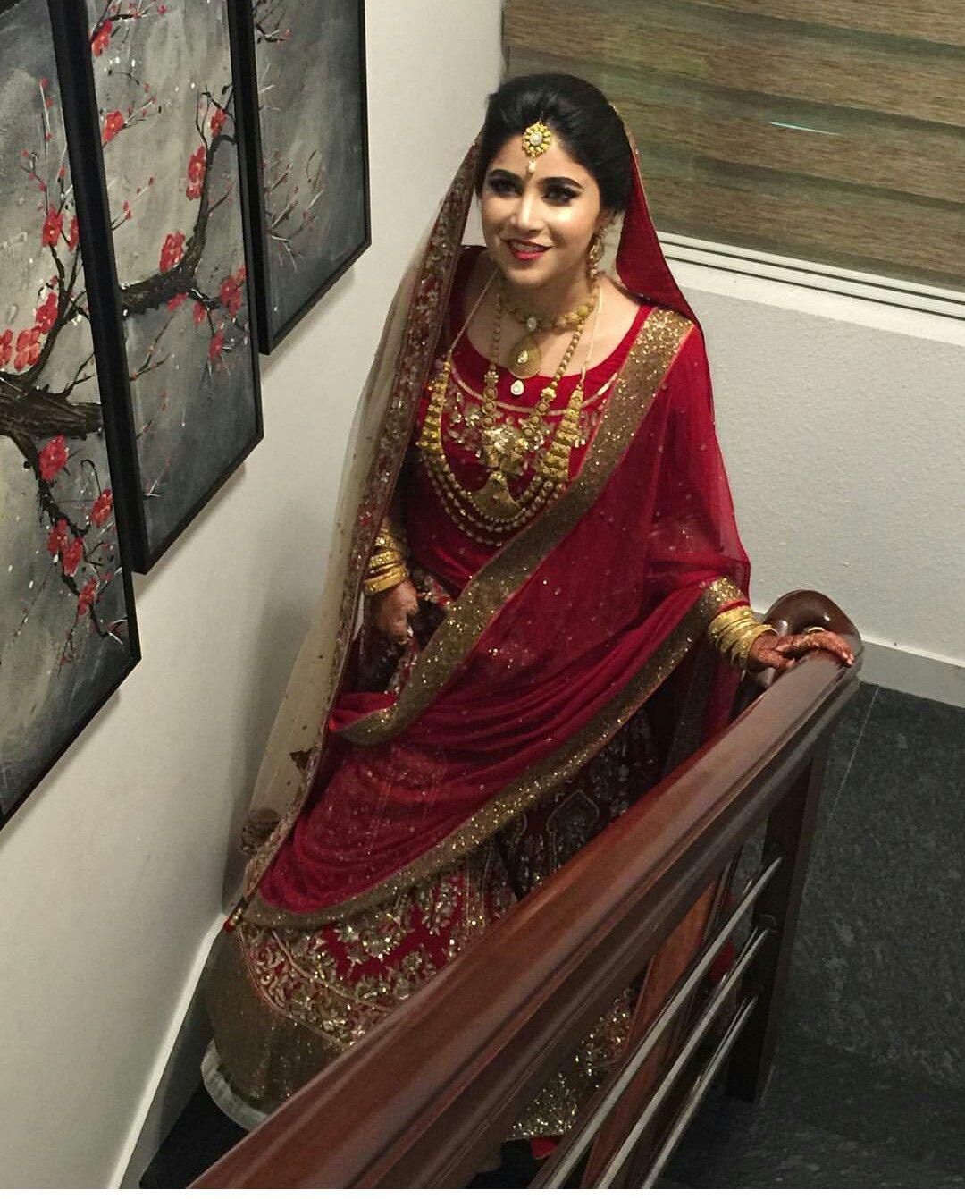Kerala Marriage Bride Hair: Beautiful Muslim Bride # Kerala Wedding# Indian Antique