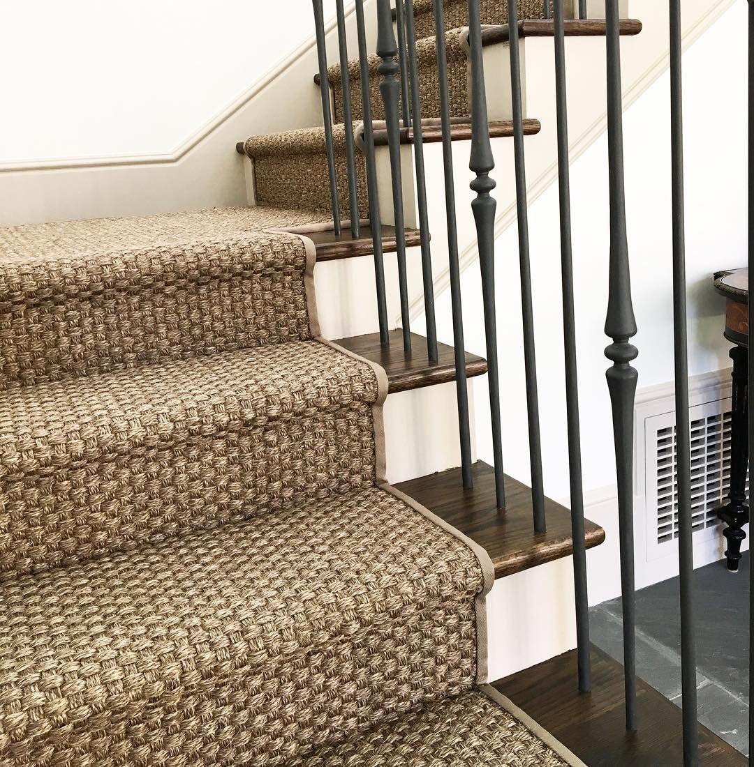 Lucas Eilers Design Lucaseilers On Instagram Loving This Sisal Stair Runner That We Installed In A Client Stair Runner Stair Runner Carpet Carpet Stairs