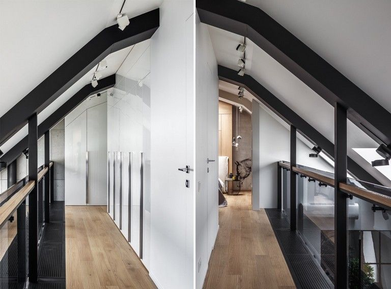 30 Luxury Attic Apartments That Use Grey As Base Attic Remodel Attic Renovation Attic Apartment