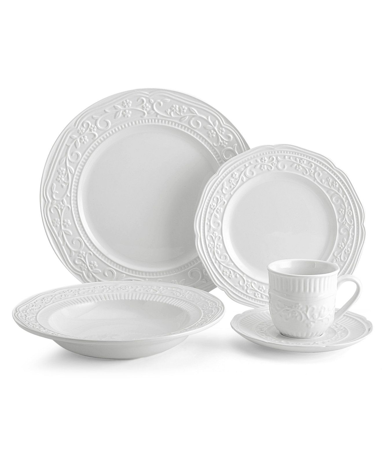 Mikasa Dinnerware American Countryside Collection - Casual Dinnerware - Dining u0026 Entertaining - Macyu0027s  sc 1 st  Pinterest & Mikasa Dinnerware American Countryside Collection | Mikasa White ...