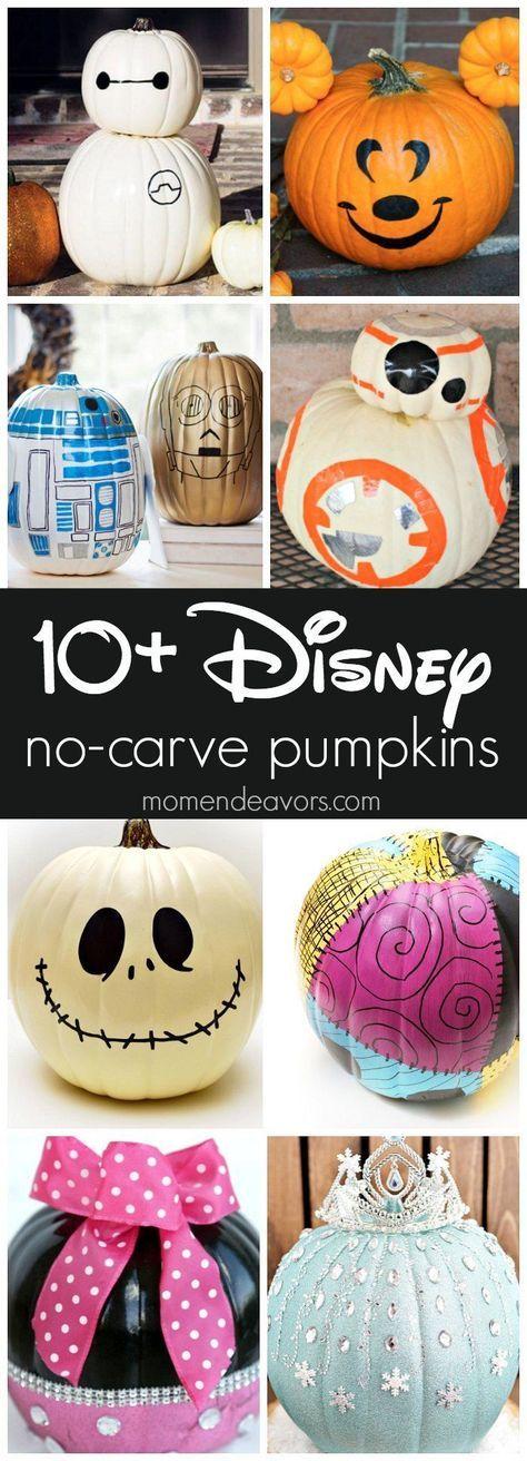 10+ Best No-Carve Disney Halloween Pumpkins Art and crafts