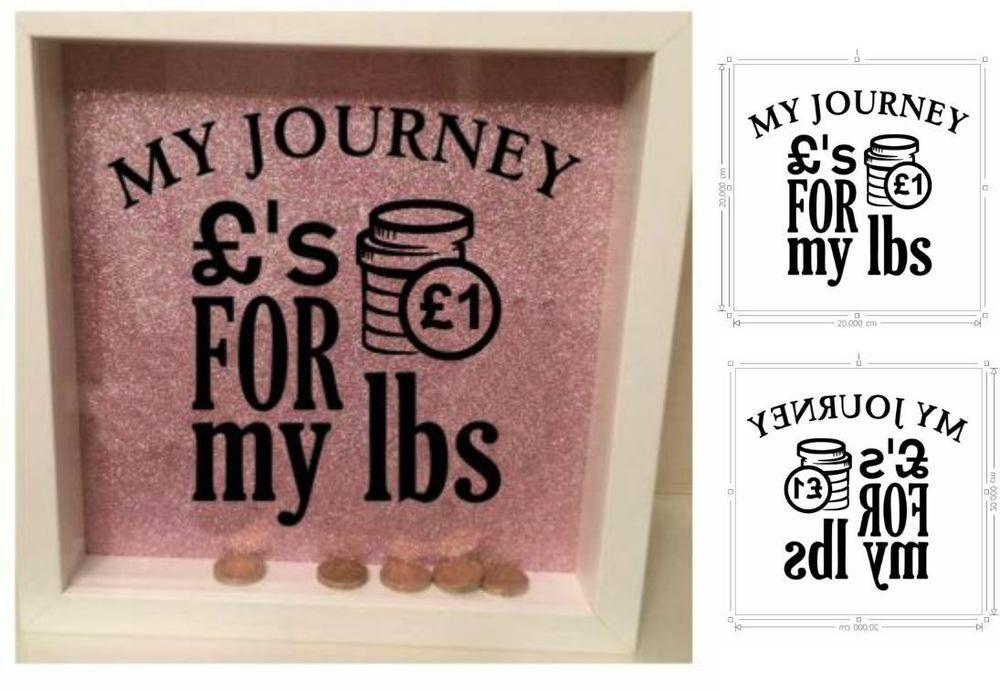 Personalised Money Box Sticker - MY JOURNEY - WEIGHT LOSS Money Box ...