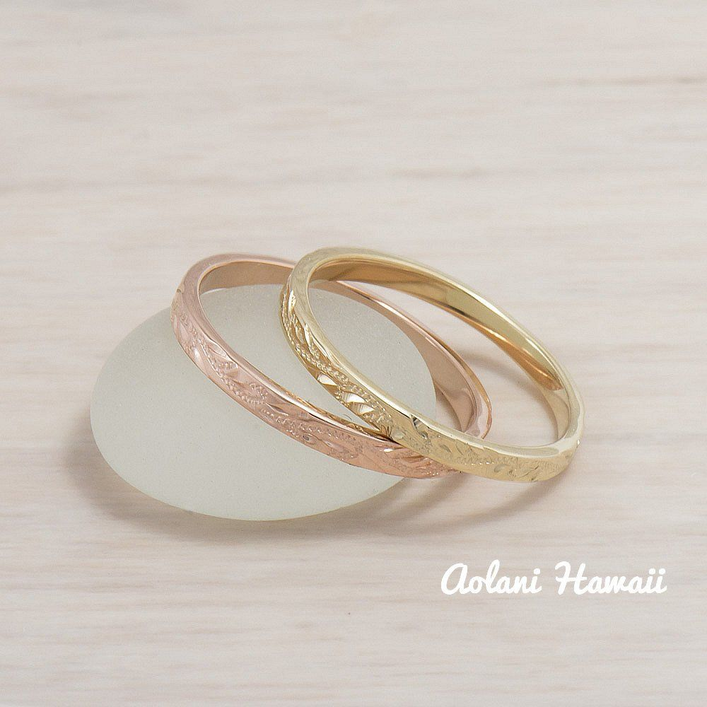 K gold hand engraved wedding rings mm width flat style flat