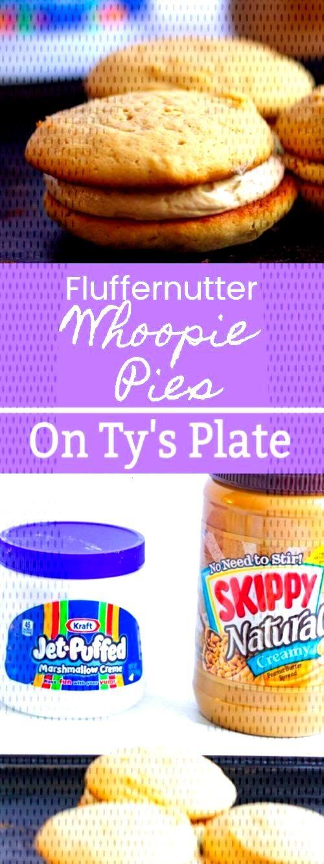 Fluffernutter Peanut Butter Marshmallow Whoopie Pies - I Love Desserts! -