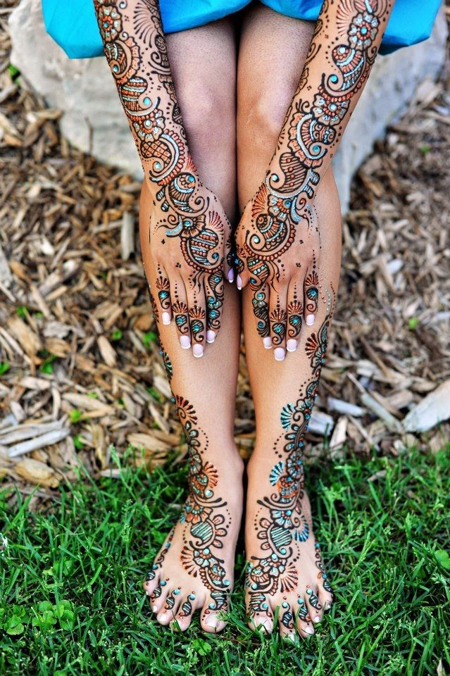 East Indian Henna Tattoo: This Is Another Cool Henna Idea For Incorporating It In My