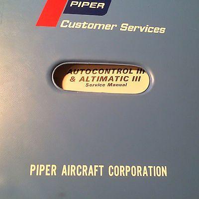 edoaire piper autocontrol iii altimatic iii service manual motors rh pinterest com Auto Repair Manual Repair Manuals