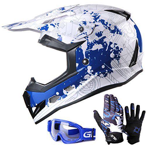 Glx Youth Kids Motocross Dirt Bike Atv Helmet Dot Certified Lightweight Off Road Gloves Goggles M Car Accessories Online Market Kids Dirt Bike Gear Dirt Bikes For Kids Dirt Bike Gear