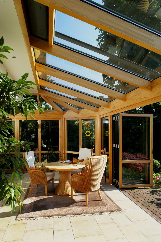 Wintergarten aus Holz #innenhofgestaltung