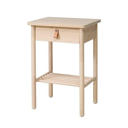 Bjorksnas Table De Chevet Bouleau 48x38 Cm Avec Images Mobilier De Salon Salon Ikea Table De Chevet Ikea
