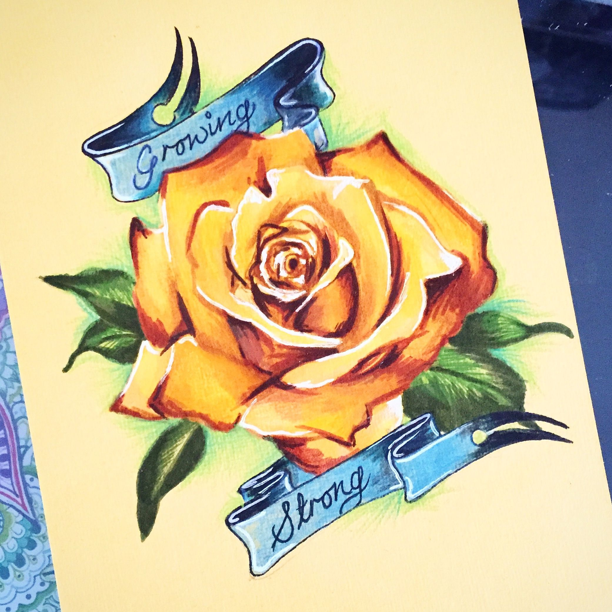 house tyrell tattoo design in copic markers