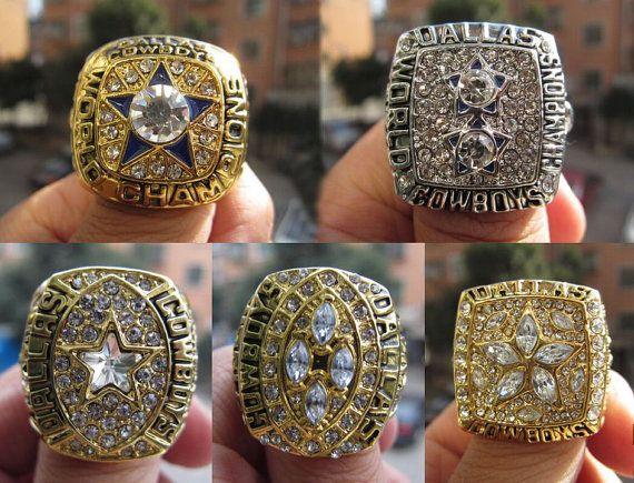 5/PCS Set Dallas Cowboys Super Bowl Championship by Silverman123
