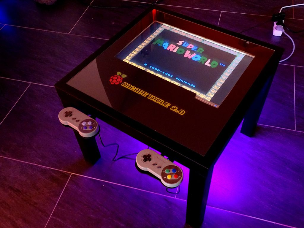 Arcade Table Homemade Electronics Pinterest Raspberry Pi