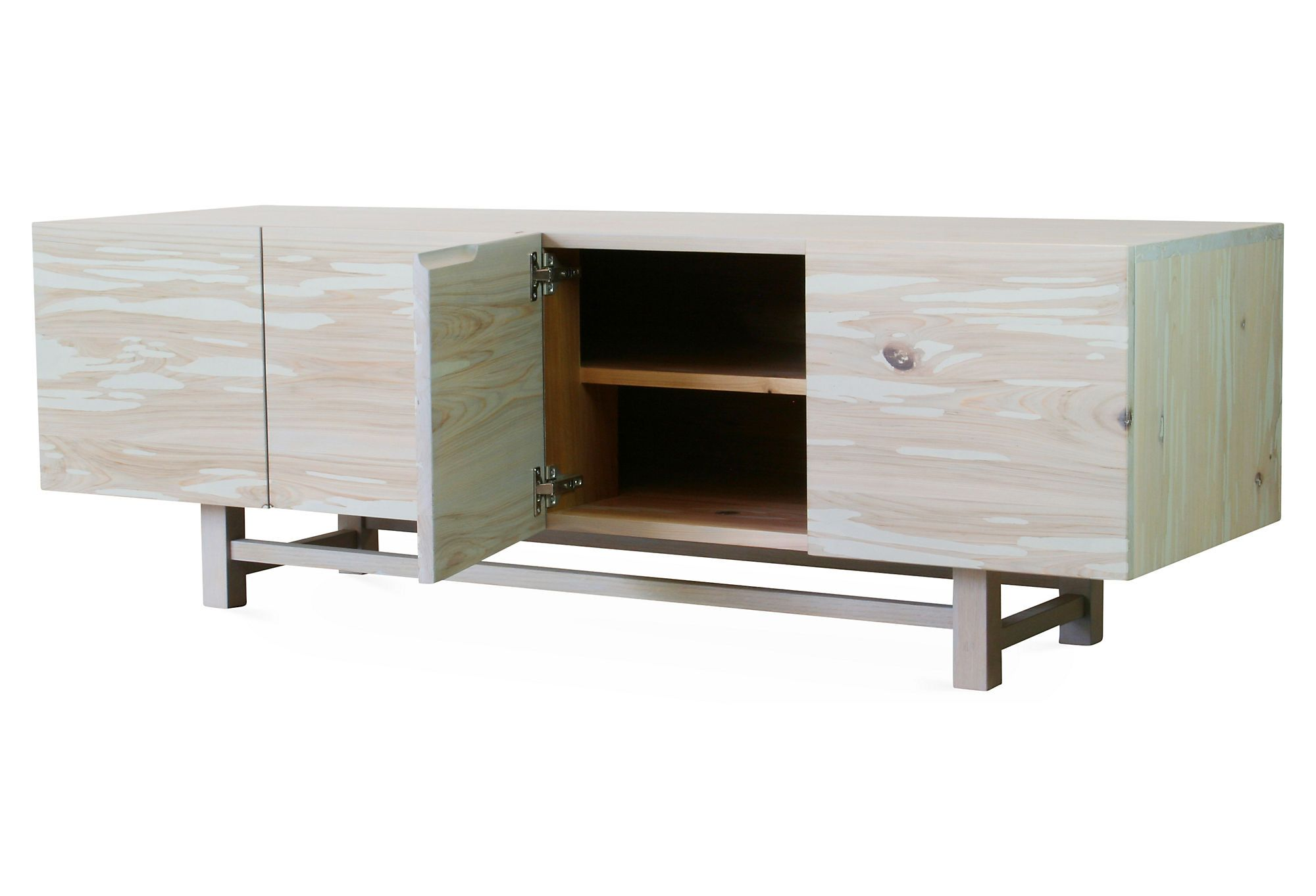 Lowboy Media Cabinet, Light Gray | Sugarbone Goods
