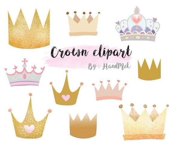 Crown Clipart Instant Download Png File 300 Dpi Etsy Clip Art Paper Crafts Crown Drawing