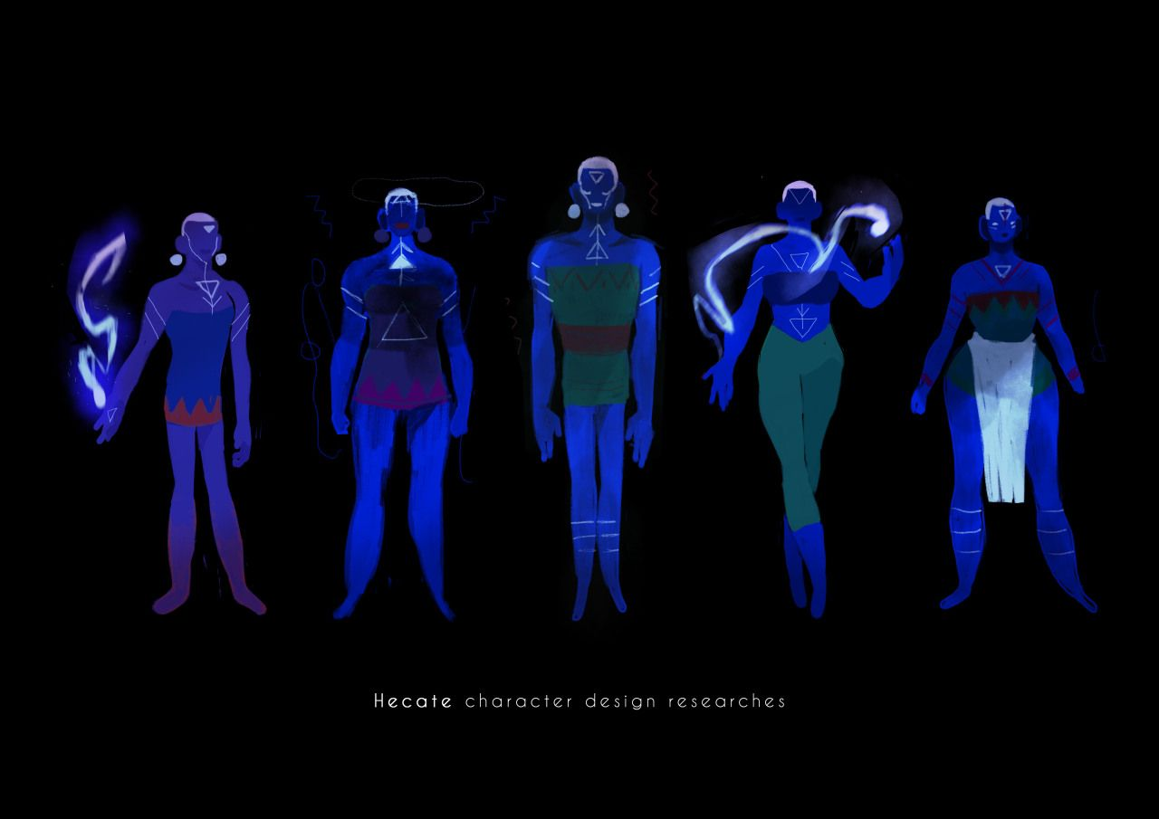 Here is some characters concept and colors I have done a while ago for the movie HECATE. With my dea... - #art #Character #concept #design #girl #gobelins #hecate #magical #witches