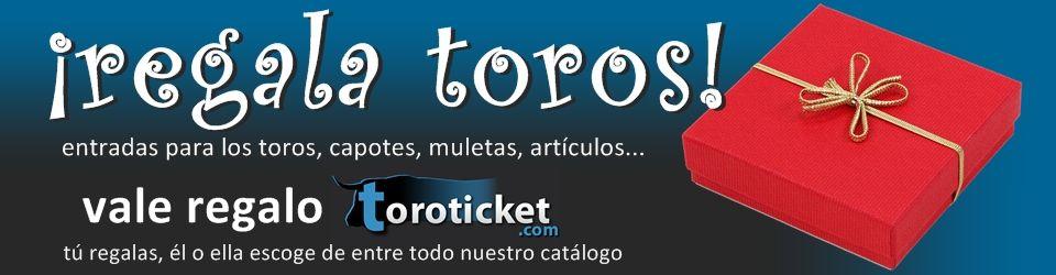 ¡Lanzamos una novedad en Toroticket!¡El Vale Regalo!Tú compras un vale con el precio que desees...¡Y se lo regalas a quien tú quieras para que se lo gaste en cualquier producto de nuestra web! Además...¡Nuestro Vale no caduca! http://www.toroticket.com/vale-regalo-toroticket/896-vale-regalo.html