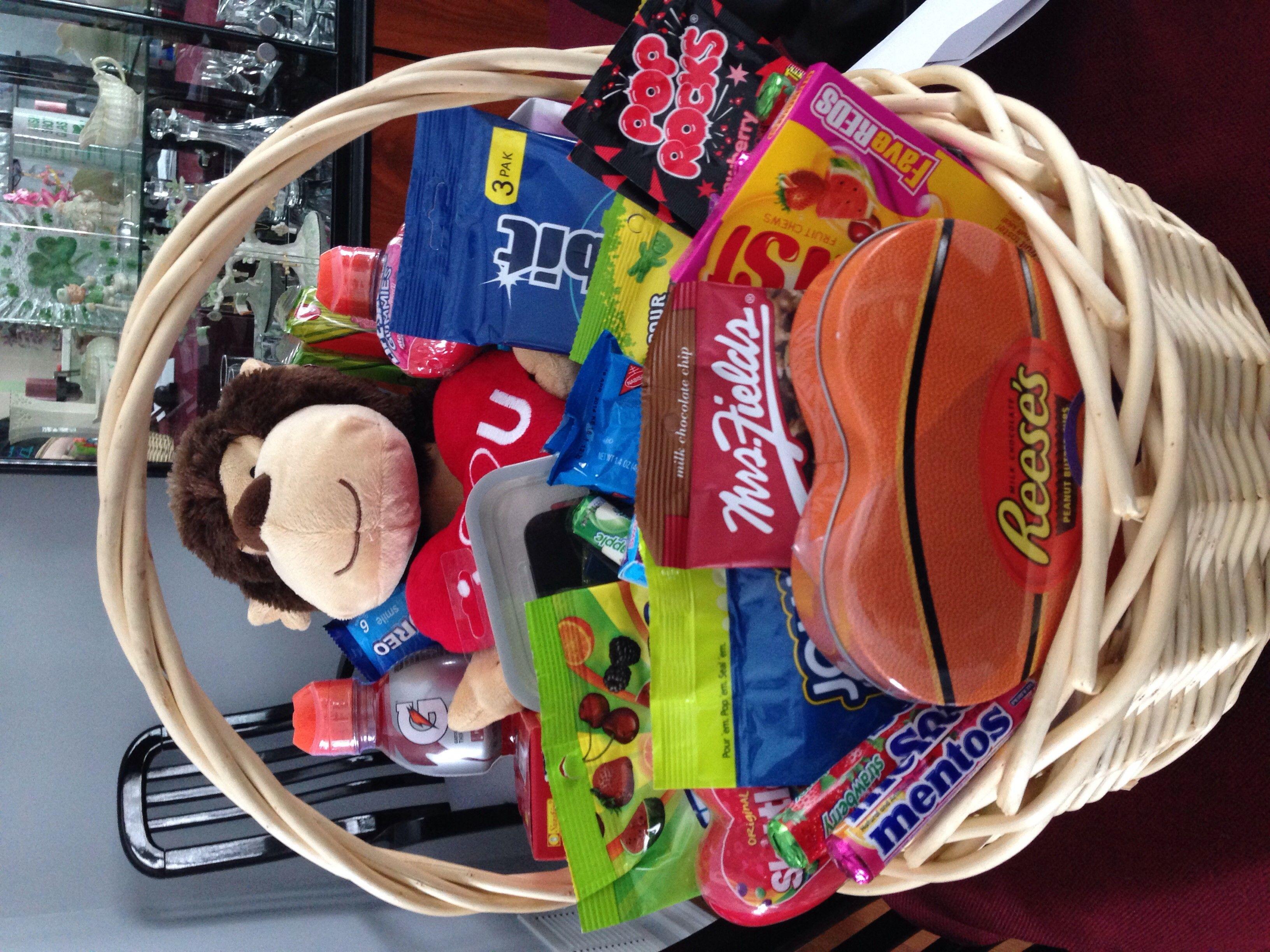 Basket i made my boyfriend for valentines day with candy snacks basket i made my boyfriend for valentines day with candy snacks lottery tickets colourmoves