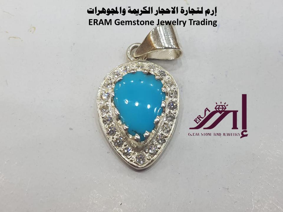قلادة نسائي كلاسيك فيروز صافي Turquoise طبيعي 100 Gemstone Jewelry Drop Earrings Gemstones