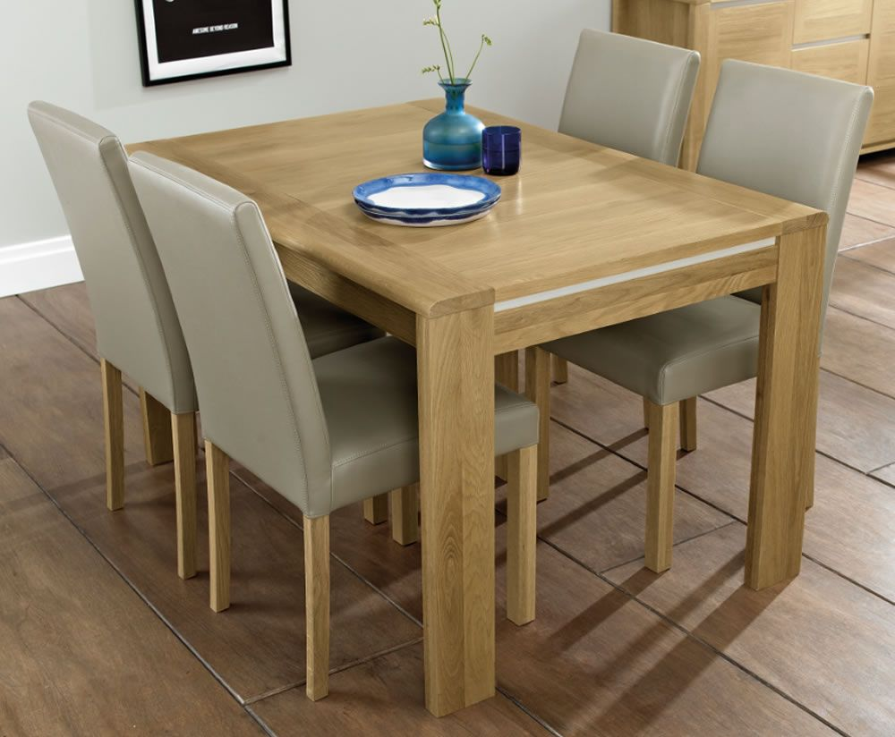 Petra Oak 128cm Extending Dining Table and Chairs | Oak ...