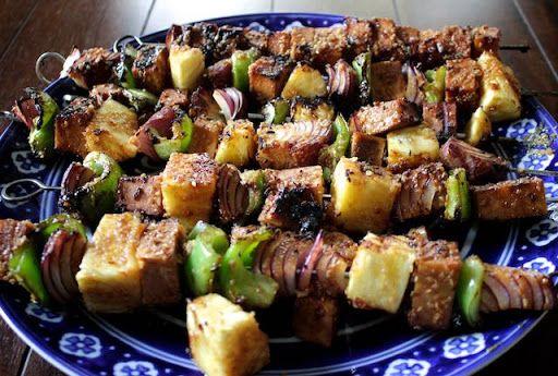 Teriyaki Tofu Kebabs Recipe | Yummly