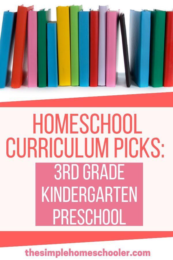 Photo of Homeschool Curriculum Picks 3rd Grade, Kindergarten, and Preschool